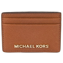 MICHAEL KORS Jet Set Travel Luggage Brown Card Holder