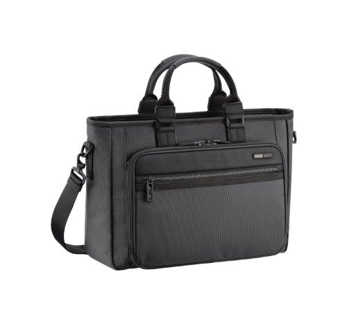 ZERO HALLIBURTON Zest Black Single Front Pocket Tote Bag