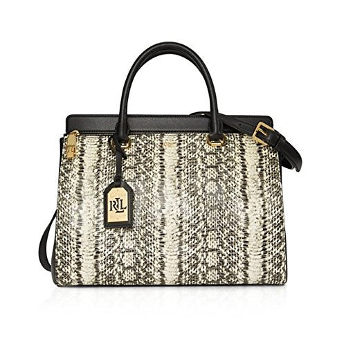 Whitby Snake-Embossed Leather Satchel