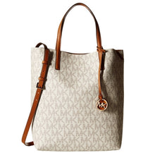 MICHAEL KORS Large Hayley Convertible Signature Leather Shoulder Tote Bag