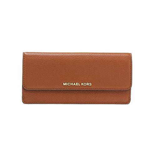 MICHAEL KORS Bedford Luggage Brown Flat Wallet