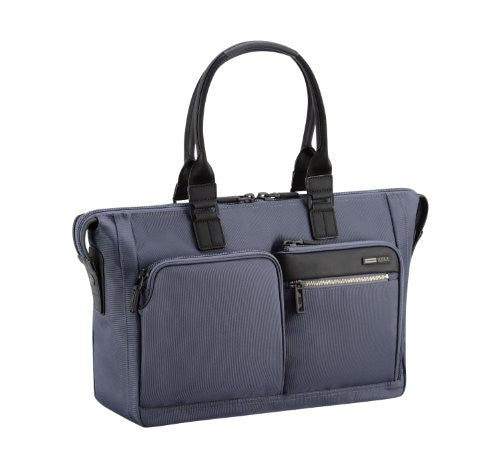 ZERO HALLIBURTON Zest Navy Double Front Pocket Tote Bag