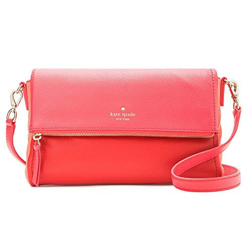 KATE SPADE Cobble Hill Marsala Crossbody - Crab Red/Coral Sunset/Parrot Feather