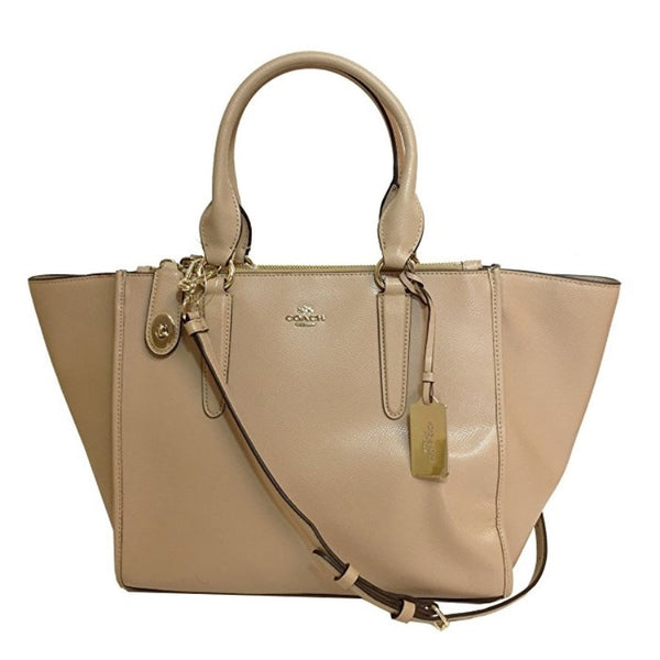 COACH Crosby Leather Carryall Crossbody Bag - Nude