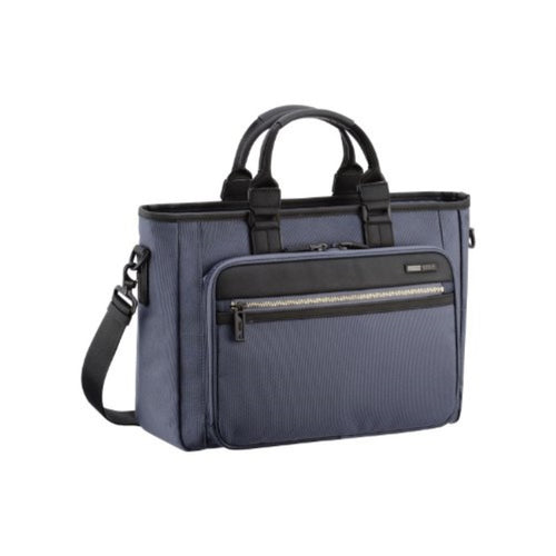 ZERO HALLIBURTON Zest Navy Single Front Pocket Tote Bag