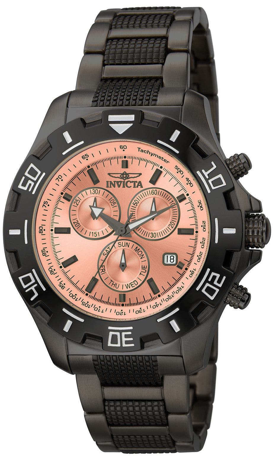 Invicta Men's 80157 Specialty Quartz Chronograph Rose Gold Dial Watch