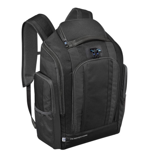 ZERO HALLIBURTON New York Black Nylon Organizer Backpack