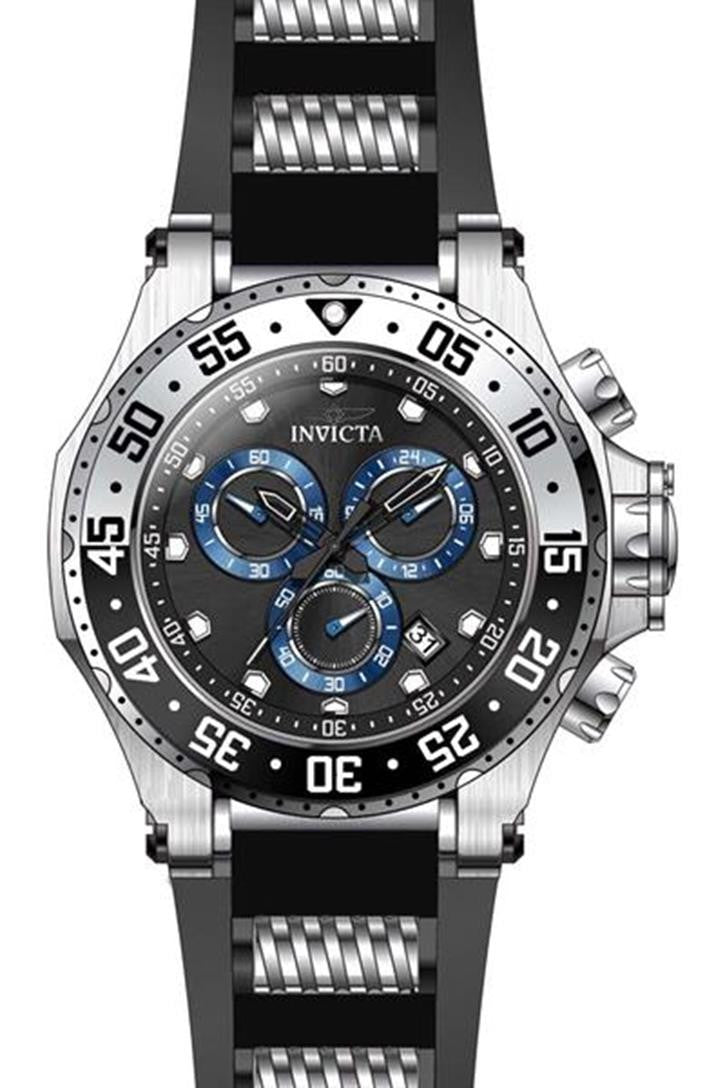 Invicta Men's 'Pro Diver' Quartz Stainless Steel and Polyurethane Casual Watch, Color:Black (Model: 21830)