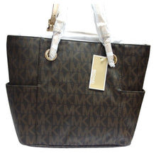 MICHAEL KORS Jet Set East/West Brown Signature Tote Bag