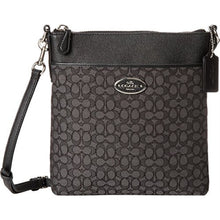 COACH Women's Signature North/South Swingpack - Silver/Black Smoke/Black
