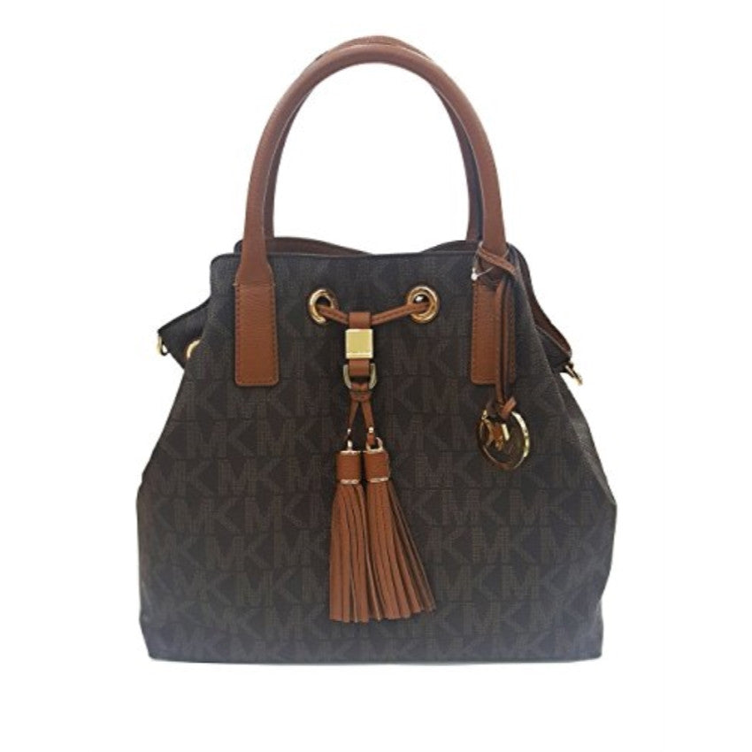 MICHAEL KORS Camden Brown GL Brown Signature Satchel Handbag