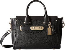 COACH Pebbled Leather Swagger 27 - Light Gold/Black