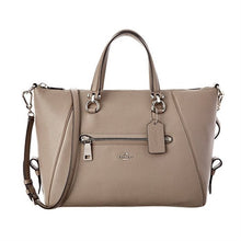 COACH Primrose Pebble Leather Satchel - Silver/Fog