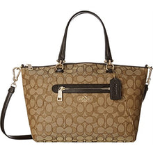 COACH Signature Prairie Jacquard Satchel - Ligh Gold/Khaki/Brown