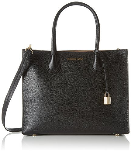 MICHAEL KORS Studio Mercer Black Large Convertible Tote Bag