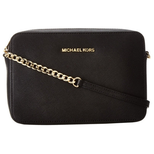 MICHAEL KORS Jet Set Travel Large East/ West Black Crossbody Handbag