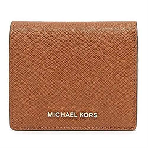 MICHAEL KORS Bedford Luggage Brown Carryall Card Case