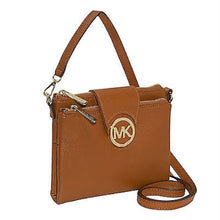 MICHAEL KORS Fulton Large Luggage Brown Crossbody Handbag