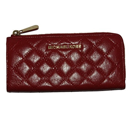 MICHAEL KORS Susannah Black Quilted Continental Wallet