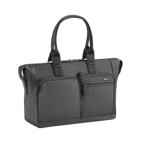 ZERO HALLIBURTON Zest Black Double Front Pocket Tote Bag