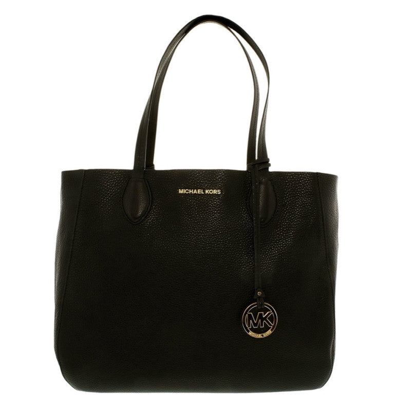 MICHAEL KORS Mae Black/ Pale Gold Large East/ West Tote Bag