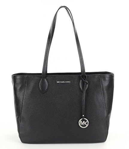 MICHAEL KORS Ani North/South Black Top Zip Tote Bag