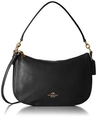 COACH Smooth Calf Leather Chelsea Crossbody - Light Gold/Black