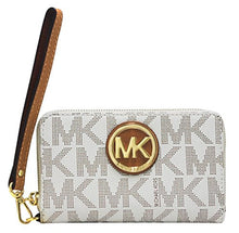 MICHAEL KORS Brown Signature Large Flat Multi-Function Phone Case Wallet