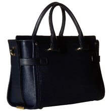 COACH Pebbled Leather Swagger 27 - Light Gold/Navy
