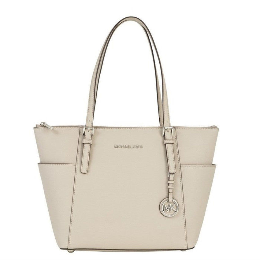 MICHAEL KORS Jet Set Cement Top-Zip Tote Bag