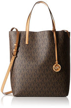 Michael Kors Hayley Large Logo North-South Tote - Brown - 30F6GH3T3V-972