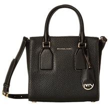 MICHAEL KORS Selby Black Medium Top Zip Satchel Handbag