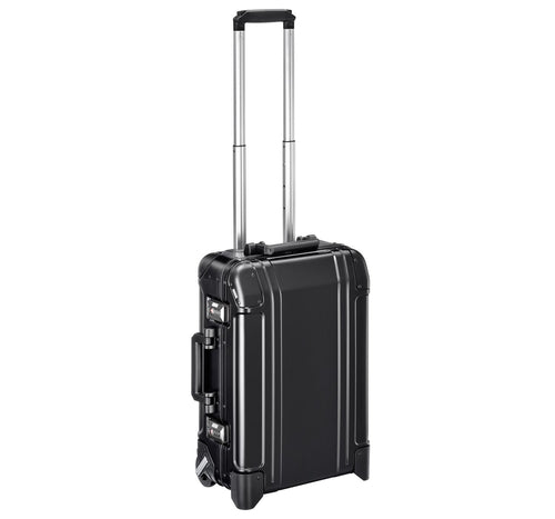 ZERO HALLIBURTON Geo Aluminum 2.0 21-inch Black Carry-On 2-Wheel Suitcase