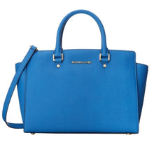 MICHAEL KORS Selma Large Saffiano Top Zip Satchel Handbag