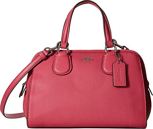 COACH Leather Mini Nolita - Dahlia /Silver