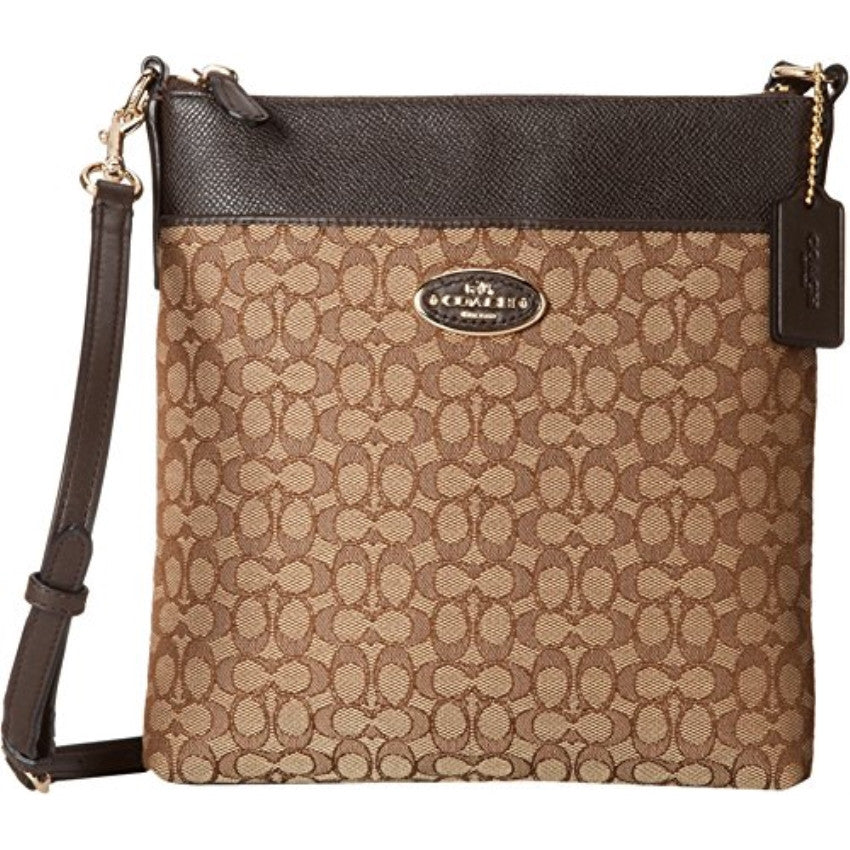 COACH Women's Signature North/South Swingpack - Light Gold/Khaki/Brown