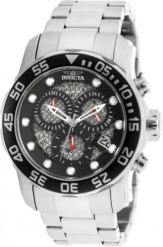 Invicta Men's 19836 Pro Diver Quartz 3 Hand Black Dial Watch