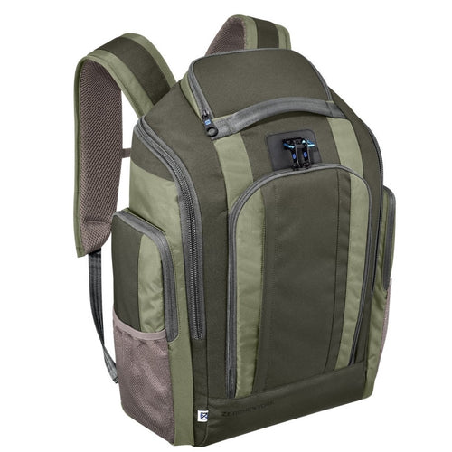 ZERO HALLIBURTON New York Khaki Nylon Organizer Backpack