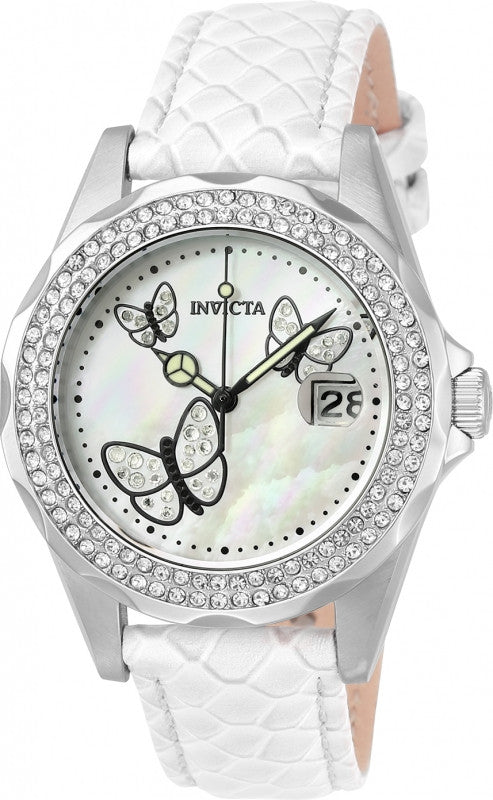 Invicta Women's 23644 Angel Quartz 3 Hand White Dial Watch