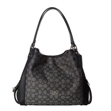 COACH Signature Jacquard Edie 31 Shoulder Bag - Silver/Black Smoke/Black