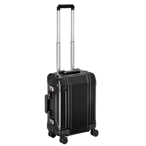 ZERO HALLIBURTON Geo Aluminum 2.0 21-inch Black Carry On 4-Wheel Spinner Suitcase