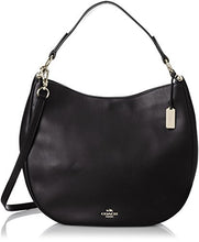 COACH Natural Calf Leather Nomad Hobo -Light Gold/Black