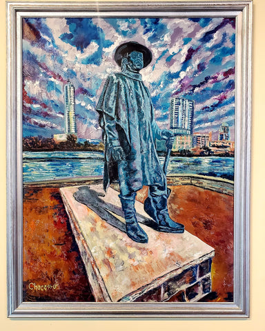 Atx Stevie Ray Original Painting