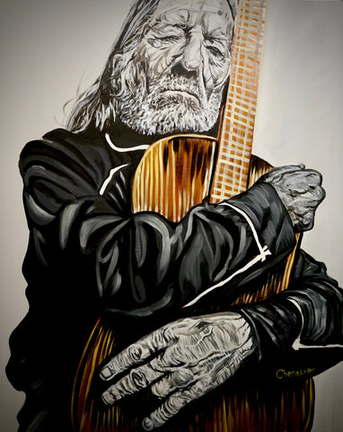 """Always On My Mind"" Original Willie Nelson Print 8.5x11"