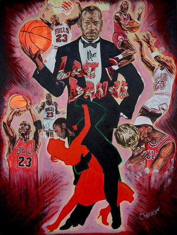 'The Last Dance' Michael Jordan Original Painting