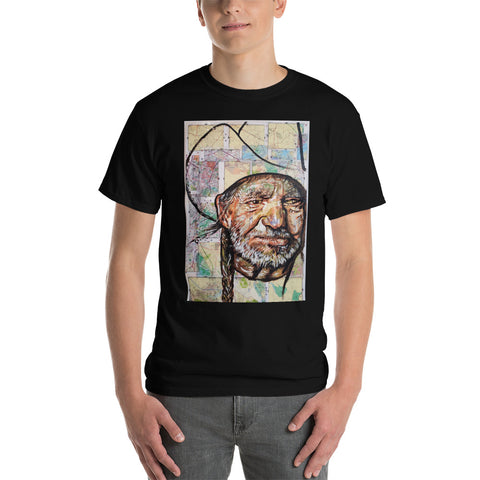 Chacasso - Willie Nelson on Map Short Sleeve T-Shirt