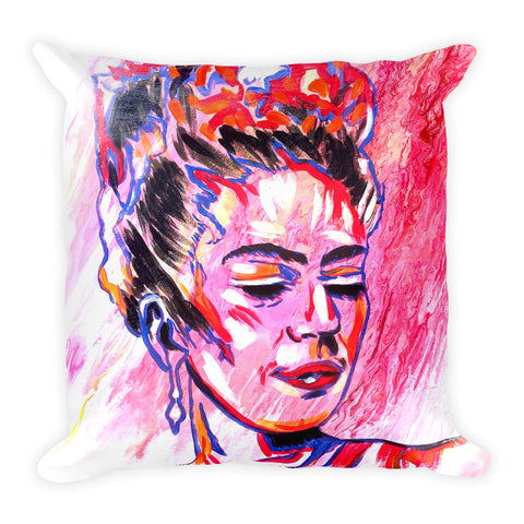 Frida on Fire Throw Pillow