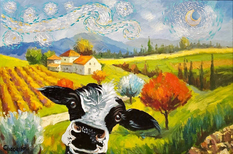 Peek-A-Moo Starry Night