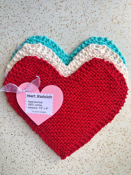 Heart Wash Cloth