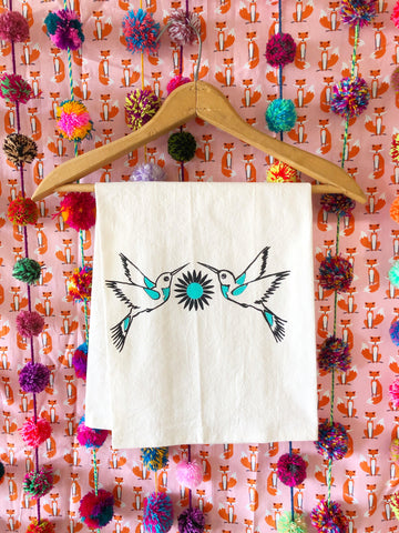 Hummingbird Dish Towel